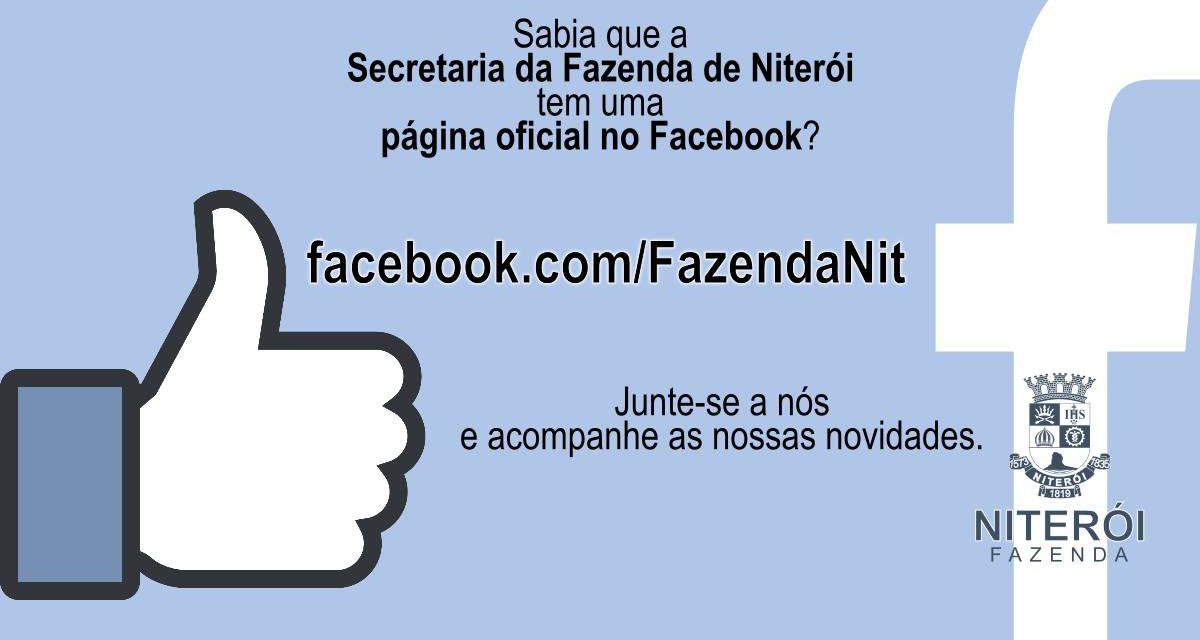 Facebook Oficial da Secretaria da Fazenda de Niterói