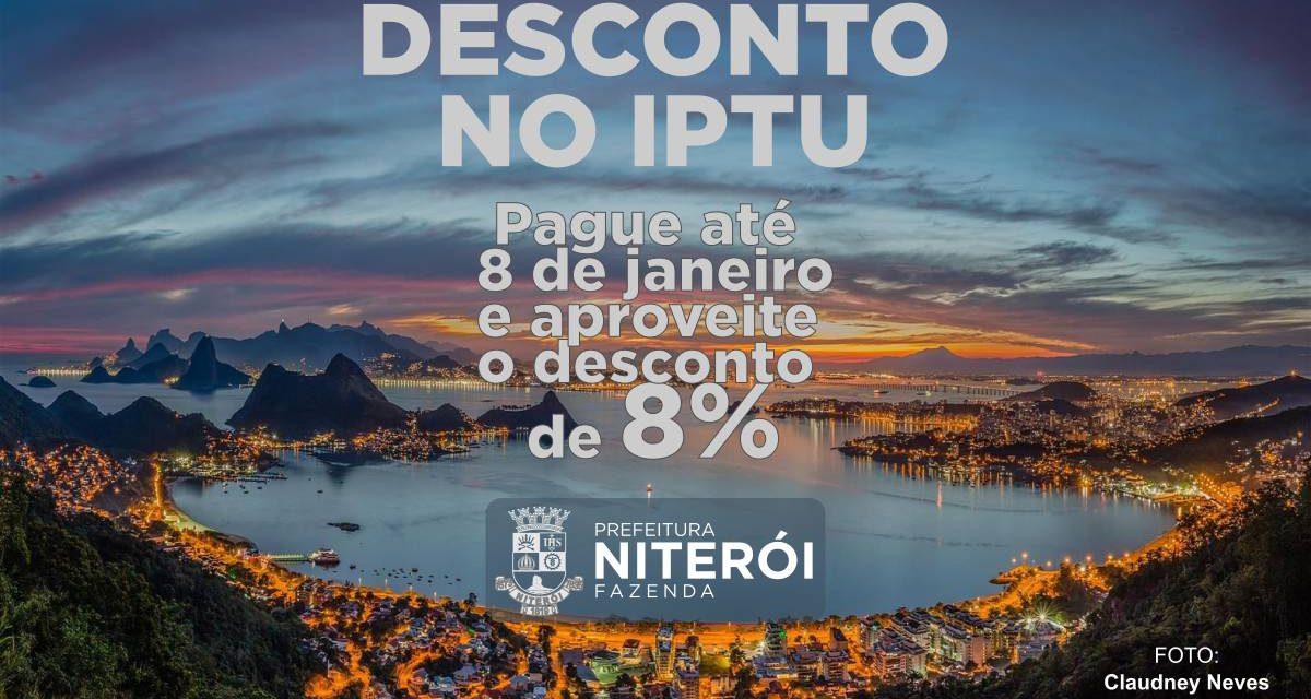 Pague seu IPTU até o dia 8 de janeiro e aproveite o desconto de 8%