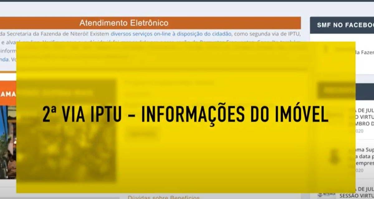 Segunda via do IPTU de Niterói passo a passo