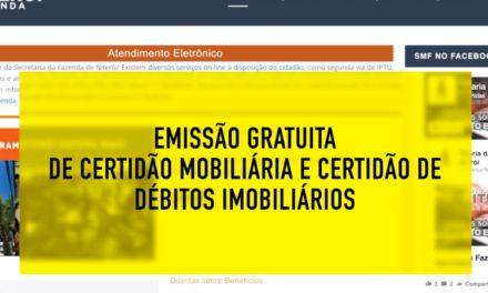 Certidão mobiliária e certidão de débitos imobiliários